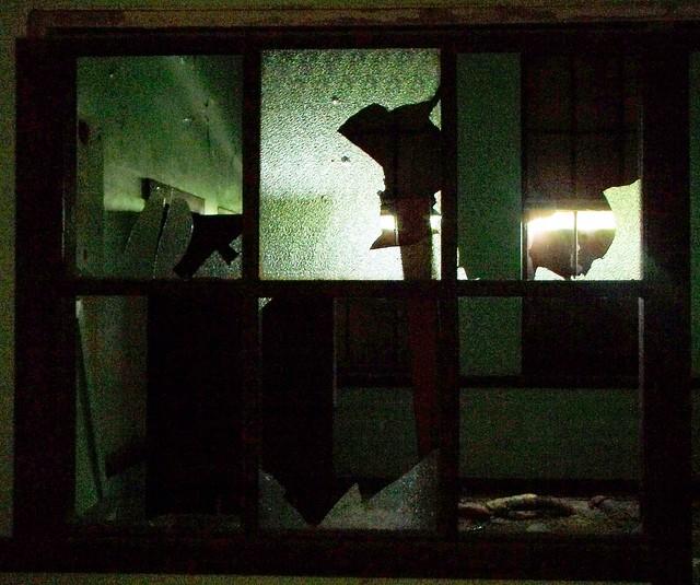 coin school - light shadows and broken windows