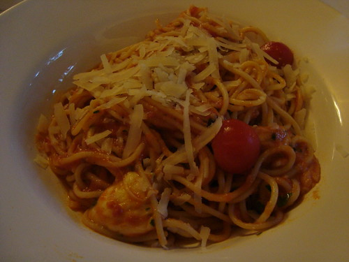 Linguine, Mozzarella, and Tomato with Basil