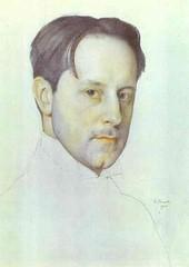 Somov, Constantin (1869-1939) - 1910 Portrait of the Artist M. Dobuzhinsky (pencil)