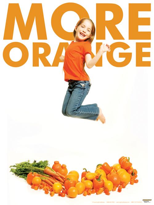 More Orange Poster