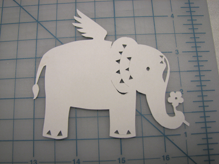 Elephant cut-out