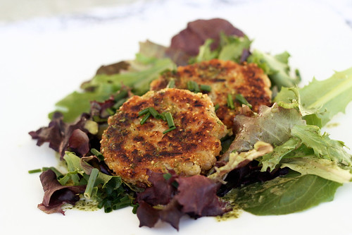 White Bean and Chive Patties