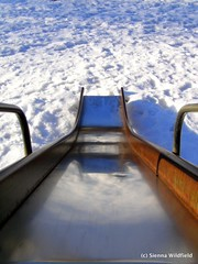 Winter Playground: Metal Slide