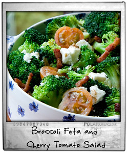Broccoli Feta and Cherry Tomato Salad