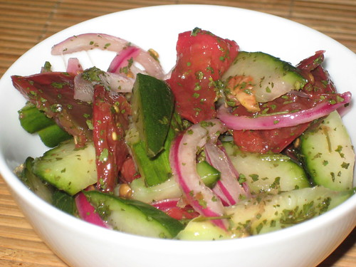Heirloom Tomato and Cucumber Salad