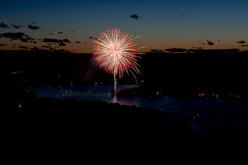 Fireworks on Lake Waramaug