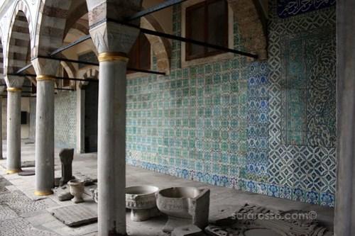 Intricate Iznik tiles decorate the Imperial Harem, Topkapi Palace, Istanbul, Turkey