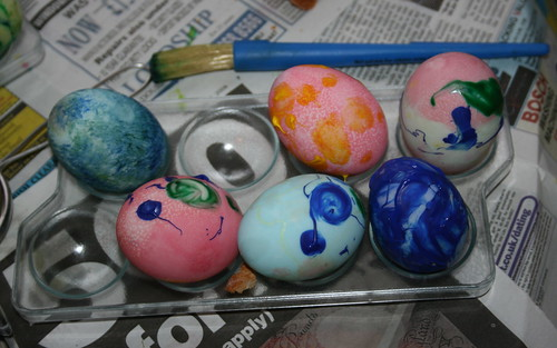 Painted Duck Eggs for Easter