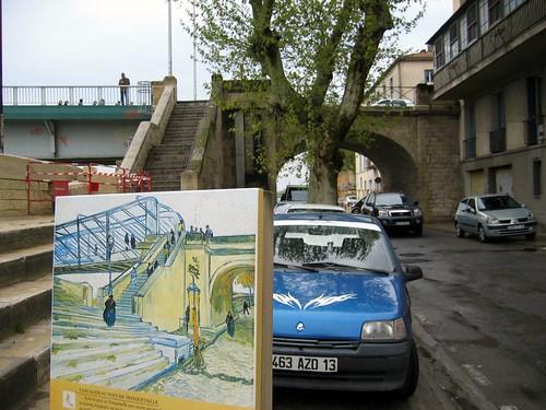 Bridge painted by van Gogh in Le Pont de Trinquetaille.