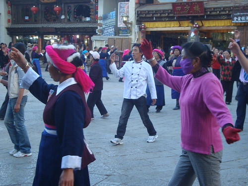Daily Community Dancing Session in Town Square