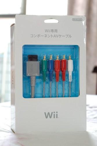 Wii 原廠色差端子 正面
