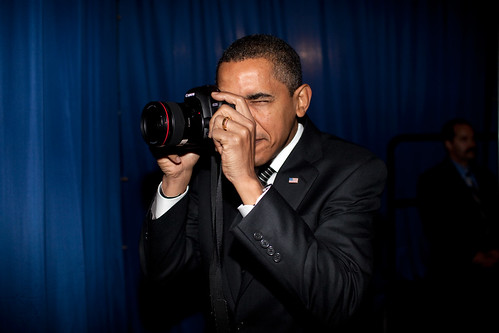 Looks like the tables are turned!  Official White House Photo by Pete Souza, via Flickr.