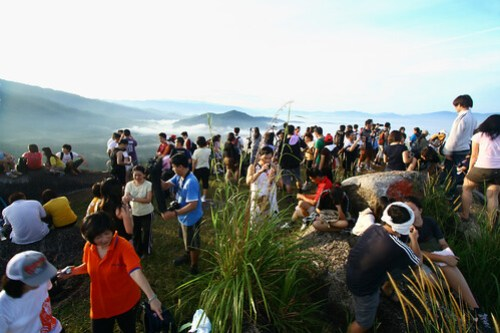 Crowd at Broga Hill