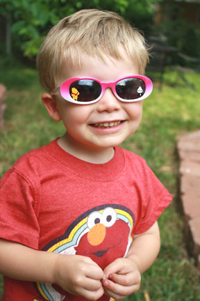 Caiden wearing Skylers sunglasses