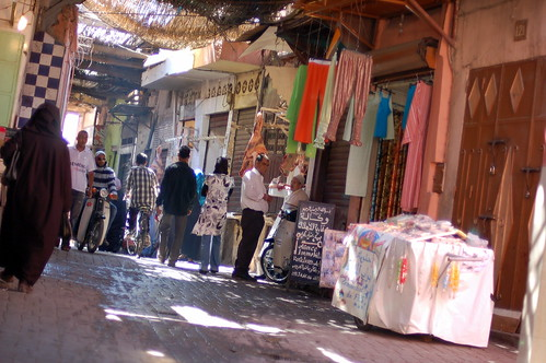 The streets leading from our riad to the souks and Djemaa el Fna - Marrakech