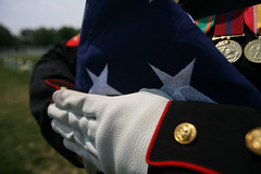 In Honor of Memorial Day 2009, A Funeral Flag,...