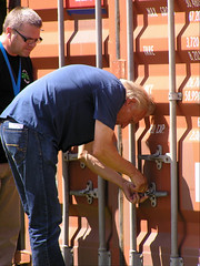 Unlocking the container