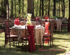 Outdoor Wedding Reception — Photo by Sharon McGukin, AAF, AIFD, PFCI
