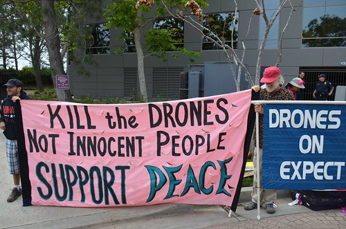 Drones protest at General Atomics in San Diego