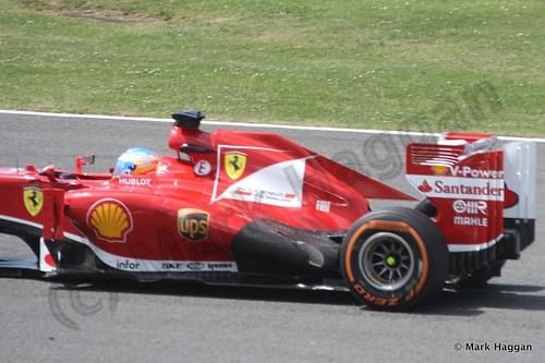 Fernando Alonso in the 2013 British Grand Prix