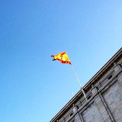 S-pain #spain #flag #nuevosministerios #españa #madrid #ministerio