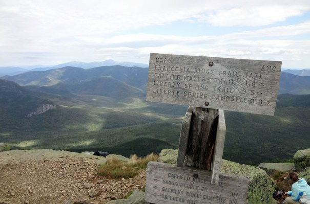Mt. Lafayette Summit Sign