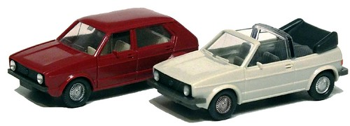Wiking VW Golf berlina e cabrio