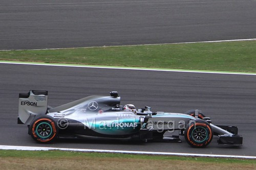 Lewis Hamilton in Free Practice 3 for the 2015 British Grand Prix at Silverstone