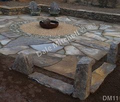 WM Dale Mitchell Landscape 11, Fire pit, Flat work, Out door space, dry laid stone construction, copyright 2014