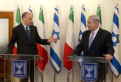 Enrico Letta incontra il Primo Ministro israel...