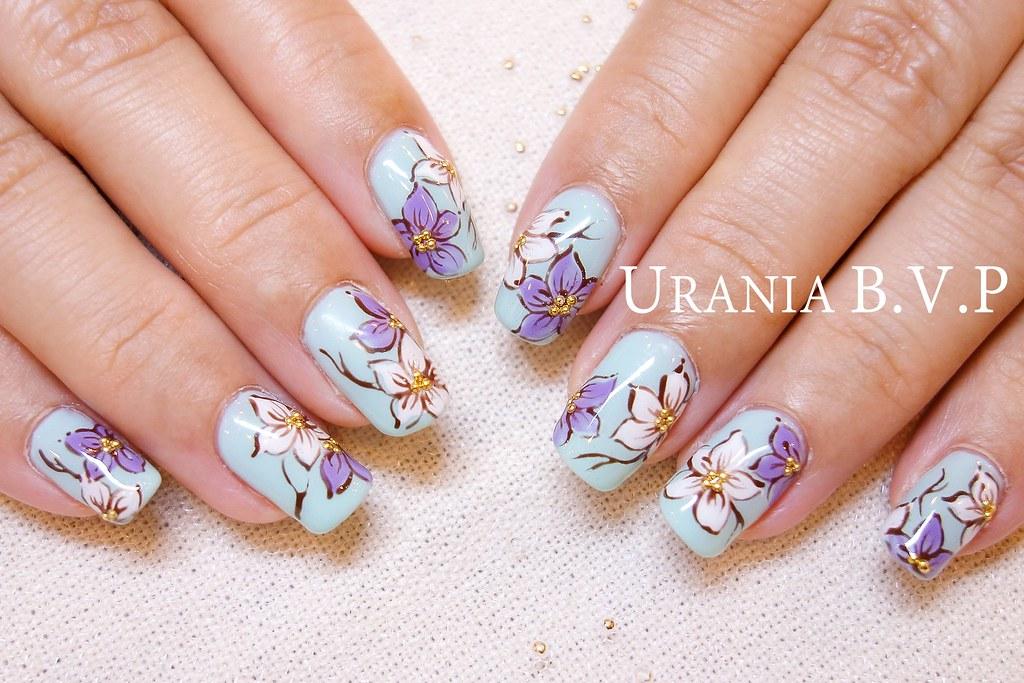 印花光療指甲