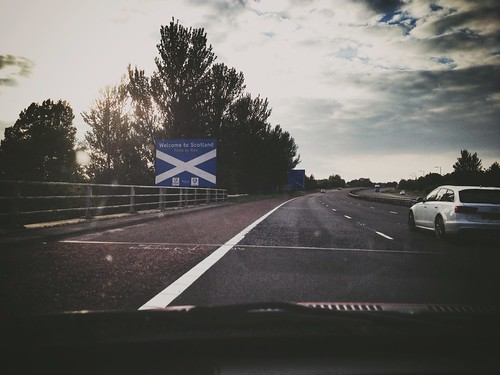 Today is all about...arriving in Scotland for the weekend