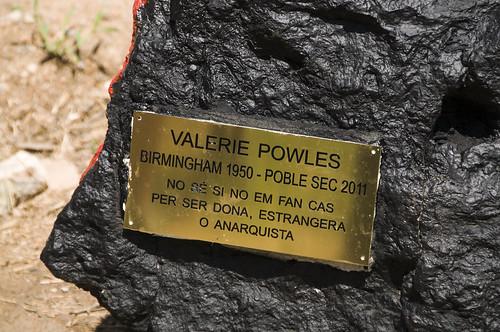 Placa recordatori a la Valerie Powles
