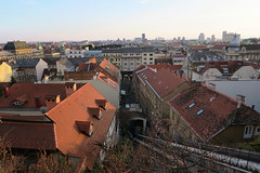 View of Zagreb and funiculare