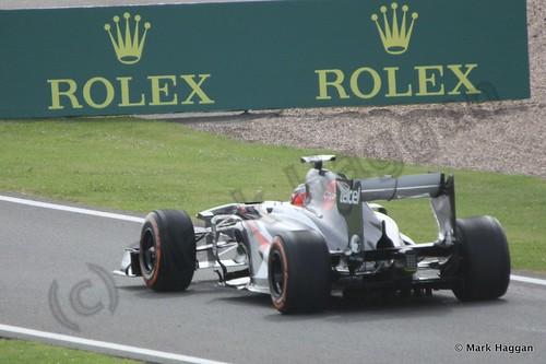 Nico Hulkenberg in Free Practice 3 at the 2013 British Grand Prix