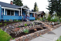 WM Jeff Fairfield, 6, Retaining wall, River bed, Steps, dry laid stone construction, copyright 2014