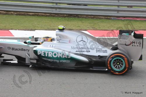Lewis Hamilton in Free Practice 3 at the 2013 British Grand Prix