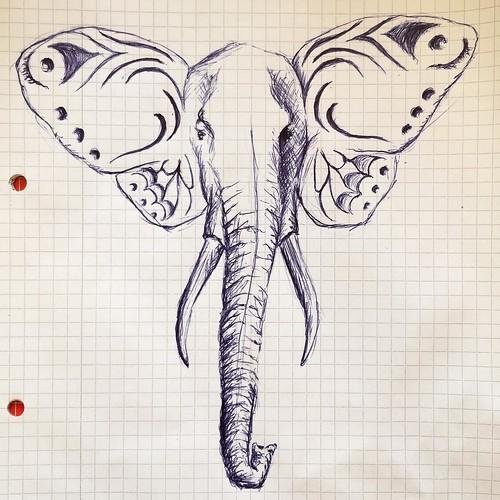 Schmetterfant  = #Schmetterling & #Elefant