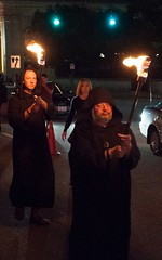 NecronimiCon Golden Key Holders in the Torch Procession