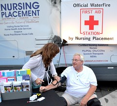 WaterFire's First Aid Station by Nursing Placement
