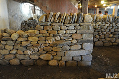 WM Mark Jurus 2, freestanding wall, vertical copes, cheekend, dry laid stone construction, copyright 2014