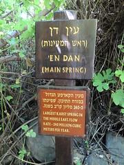 Tel Dan spring sign