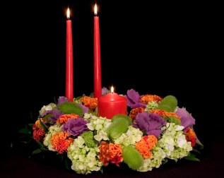 Thanksgiving Triad — Leanne and David Kesler, Floral Design Institute, Inc., in Portland, Ore.