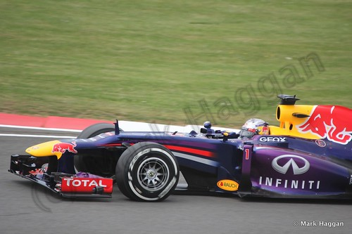 Sebastian Vettel in Qualifying for the 2013 British Grand Prix