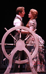 Ron Bohmer (Ravenal) and Jennifer Hope Wills (Magnolia) in Show Boat produced by Music Circus at the Wells Fargo Pavilion July 9 -14, 2013. Photo by Charr Crail.