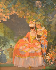 Harlequin and a Lady, Konstantin Somov (1869-1939)