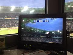Der Borussia-Park in Mönchengladbach in der Halbzeitpause beim Spiel gegen Wolfsburg