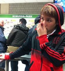 Hajime Hosogai nach der Partie zwischen Borussia Mönchengladbach und Bayer Leverkusen