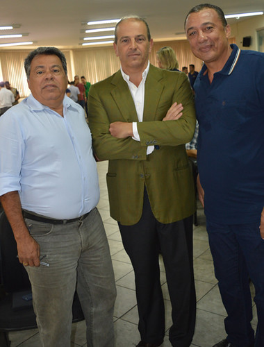 Luís Carlos Miranda, Paolo Bassetti e Adiel Oliveira