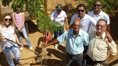 Leida Horst participou da plantação de mudas